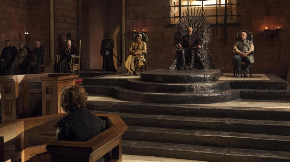 Tyrion on trial for being a dwarf. (Credit: HBO / Via: IGN.com)